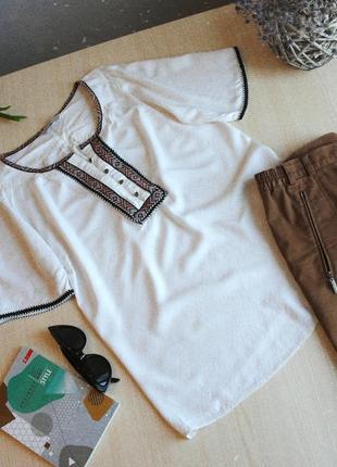 Вышиванка этно бохо стиль блуза с вышивкой этническая рубашка сорочка