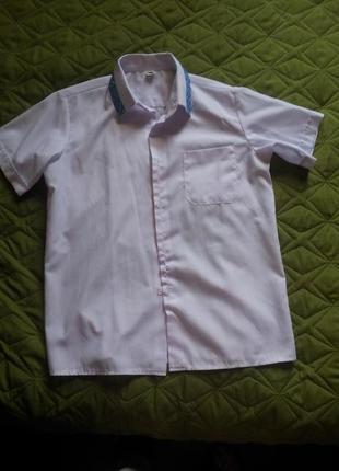 Тениска хлопковая с вышивкой для мальчика 140р
