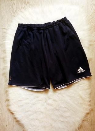 Синие темные короткие длинные мужские спортивные шорты с сеткой adidas climalite стрейч