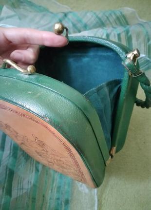 Уникальная винтажная музейная коллекционная сумка из кожи раритет xx век5 фото
