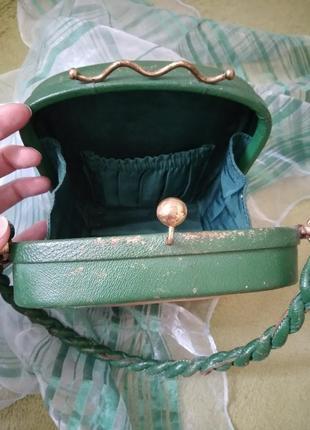 Уникальная винтажная музейная коллекционная сумка из кожи раритет xx век7 фото