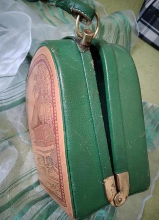 Уникальная винтажная музейная коллекционная сумка из кожи раритет xx век9 фото