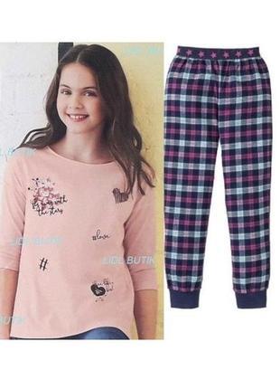 Пижама для девочки pepperts германия р. 146-152, фланель