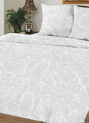 Постельное белье белое узор все размеры бязь