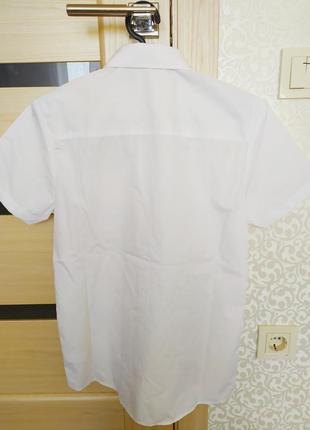 Next рубашка мальчуковая школьная с коротким рукавом