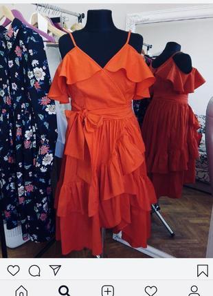 Шикарное дизайнерское платье-сарафан большой размер