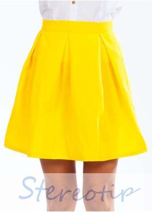 Юбка желтая новая