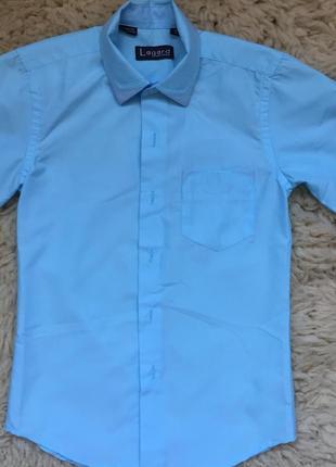 Красивая рубашка с коротким рукавом 5-6 лет 116-122 рост