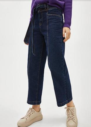 Джинсовые брюки- кюлоты