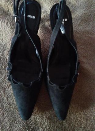 Туфли на каблуке, черные, 39