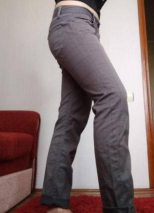 Джинсы штаны брюки в клеточку