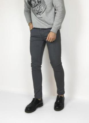 Denim co skinny зауженные серые джинсы