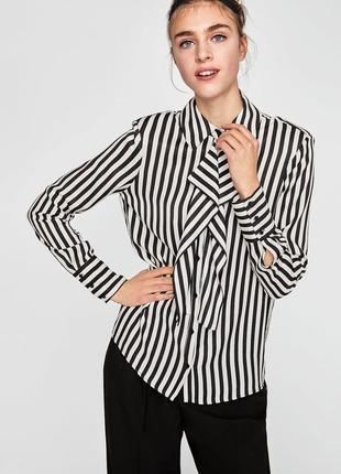 Стильна блуза zara в завжди модну полоску ♥