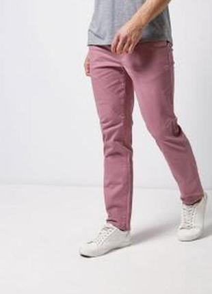 Розовые мужские штаны плотные брюки чиносы хлопок