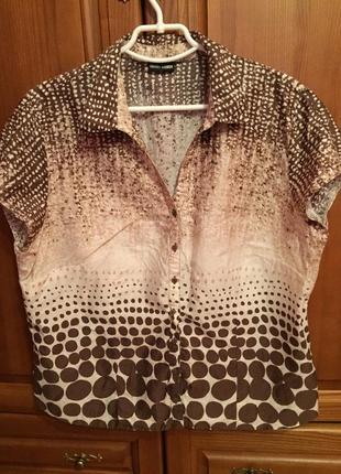 Ультралегкая блузка рубашка gerry weber 44-46 евро размер