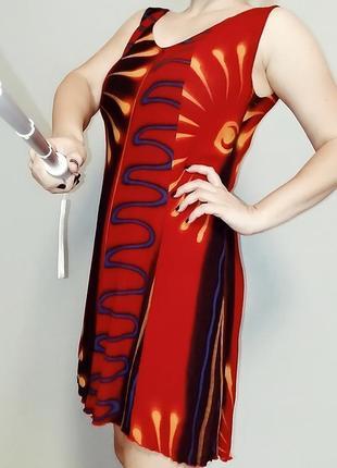 Лёгкий сарафан-платье 12-16/ 48-52