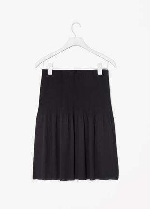 Синяя миди юбка плиссе из шифона cos s-m2 фото