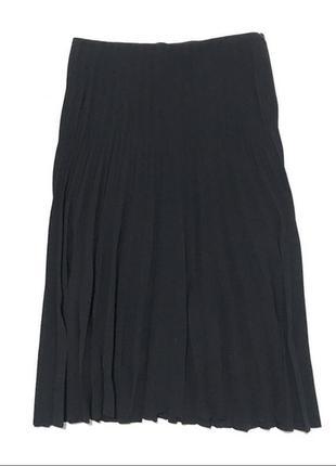 Синяя миди юбка плиссе из шифона cos s-m5 фото