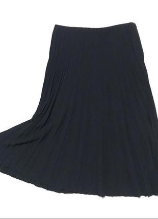 Синяя миди юбка плиссе из шифона cos s-m6 фото