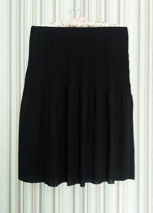 Синяя миди юбка плиссе из шифона cos s-m8 фото