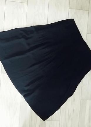 Синяя миди юбка плиссе из шифона cos s-m10 фото
