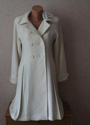 Marie cllair- пальто кашемировое молочного цвета