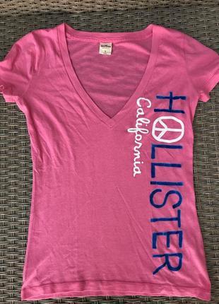Розовая, зефирного цвета футболка