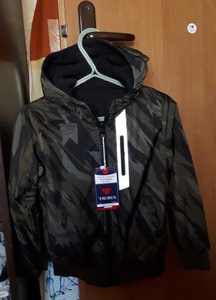 Ветровка 2х сторонняя пайта и куртка 2в одном венгрия на 6-8лет