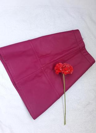 Юбка трапеция/ модный розовый/ мини