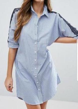 Удлиненная рубашка  в полоску river island