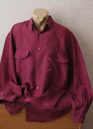 Selection- рубашка классика из натур шелка сост.новой