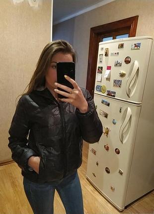 Черная демисезонная куртка,дутая куртка,ветровка
