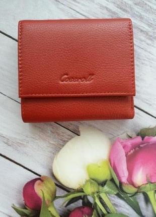 Кожаный кошелек из натуральной кожи шкіряний жіночий гаманець маленький