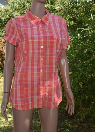 Клетчатая женская рубашка casual бренда h&m