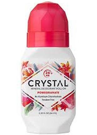 Crystal body deodorant натуральный роликовый дезодорант 66 мл с ароматом граната