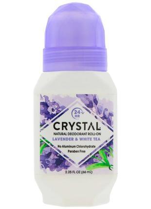 Crystal body deodorant натуральный роликовый дезодорант 66 мл лаванда и белый чай