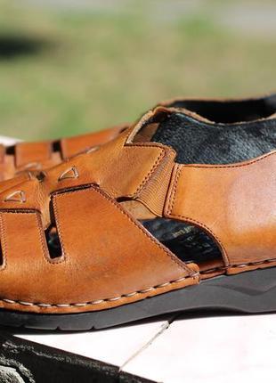 Кожаные босоножка, сандалии rieker antistress 37-38