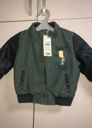 Демисезонная куртка - бомбер на мальчика 4 года