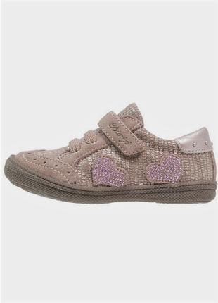 Новые полуботинки primigi кожа+замша кроссовки беж/серебро оригинал ботинки
