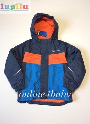 Детская зимняя термо куртка lupilu на мальчика 4-6 лет