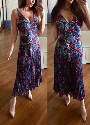 Шикарное платье миди, сарафан плиссе , плиссированное & other stories