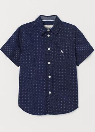 Стильная хлопковая рубашка h&m