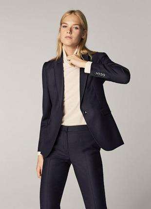 Костюм новый от massimo dutti, шерсть, синий (брюки 38, пиджак 40)