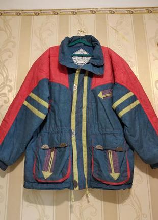 Дрбротная куртка на синтепоне большого размера.