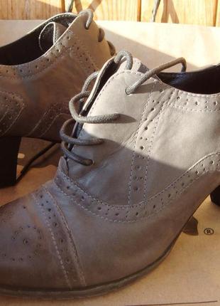 Новые полностью кожаные туфли, ботильоны 5th avenu