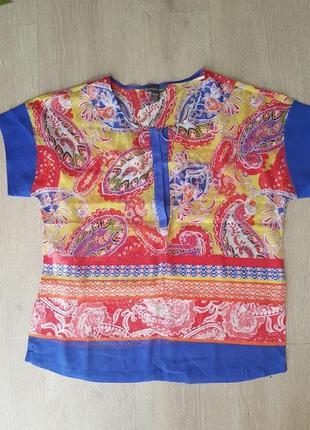 Шелковая блуза туника накидка кофта tommy bahama