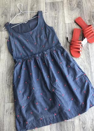 Шикарное хлопковое платье gap