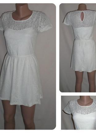 Нежное кружевное платье/сукня з гіпюром/плаття з мереживом