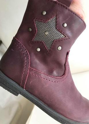 Новые кожаные стильные ботинки на осень