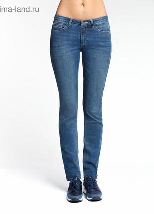 Синие джинсы скини zara